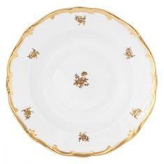 Набор глубоких тарелок 22 см РОЗА ЗОЛОТАЯ от Weimar Porzellan, фарфор, 6 шт.