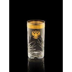 Набор высоких стаканов ГЕРБ РОССИИ на 6 персон от Bohemia, хрусталь, подарочная коробка
