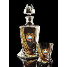 Набор для виски ФСО РОССИИ на 6 персон от Bohemia, 7 предметов, хрусталь, упаковка подарочная