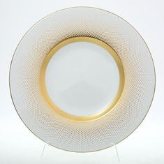 Набор глубоких тарелок 23 см RIO WHITE GOLD от Falkenporzellan, 6 шт., фарфор