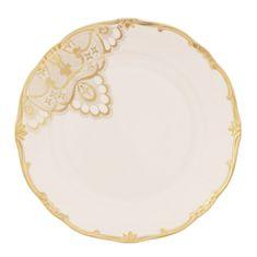 Набор фарфоровых тарелок 24 см ЛЭЙС КРЕМ (Lace Cream) от Weimar Porzellan, 6 шт.