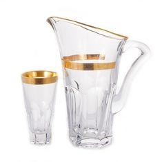 Набор стекла для напитков АПОЛЛО ДЖЕССИ от Crystalite Bohemia на 6 персон, 7 предметов