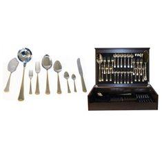 Набор столовых приборов Falperra Gold от Face на 12 персон, 75 предметов, деревянная коробка