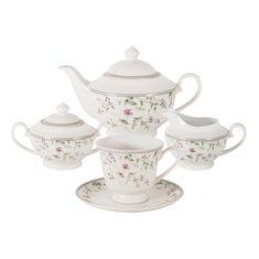 Чайный фарфоровый сервиз ЛАДА от Anna Lafarg Primavera на 6 персон, 15 предметов, подарочная упаковка
