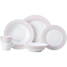 Набор фарфоровой посуды JEWEL (рубиновый) от Maxwell & Williams на 4 персоны, 20 предметов, подарочная упаковка