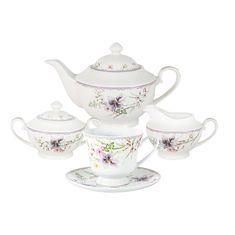 Чайный фарфоровый сервиз СЕЛЕНА от Anna Lafarg Primavera на 6 персон, 15 предметов