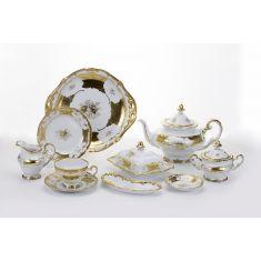 Чайный сервиз на 12 персон КЛЕНОВЫЙ ЛИСТ БЕЛЫЙ