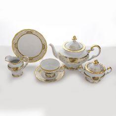 Чайный сервиз из фарфора СИМФОНИЯ ЗОЛОТАЯ от Weimar Porzellan на 6 персон, 21 предмет