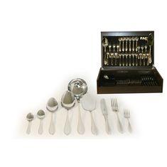 Набор столовых приборов Geneva от Face на 12 персон, 75 предметов, деревянная коробка