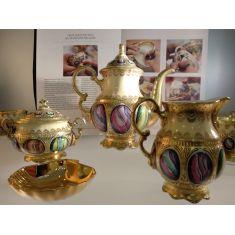 Сервиз кофейный АНТИЧНЫЕ МЕДАЛЬОНЫ (Antique Medallions) от Rudolf Kampf на 6 персон, 15 предметов, подарочная упаковка
