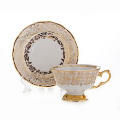Набор для чая ЛИСТ БЕЛЫЙ от Carlsbad
